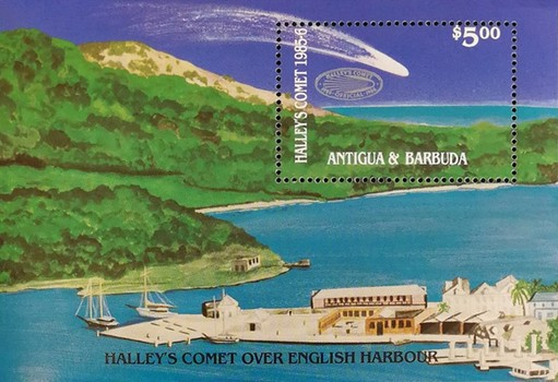 [Appearance of Halley's Comet - Overprinted, type ]
