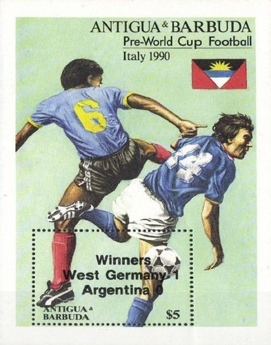 [Football World Cup - Italy - Issue of 1989 Overprinted, type ]