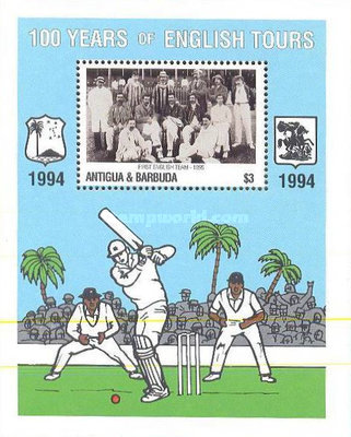 [The 100th Anniversary of First English Cricket Tour to the West Indies, type ]