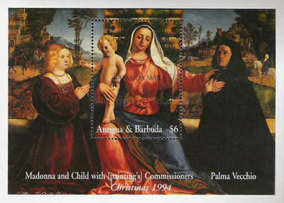 [Christmas - Madonna Illustrations on Paintings of the 15th and 16th Century, type ]