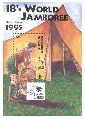 [The 18th Anniversary of the World Jamboree - Holland - Overprinted, type ]