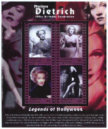 [The 100th Anniversary of the Birth of Marlene Dietrich, 1901-1992, type ]