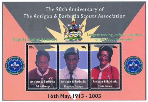 [The 90th Anniversary of the Antigua and Barbuda Scouts Association, type ]