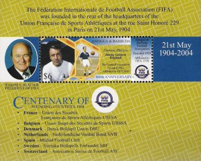 [The 100th Anniversary of the International Football Federation - FIFA, type ]