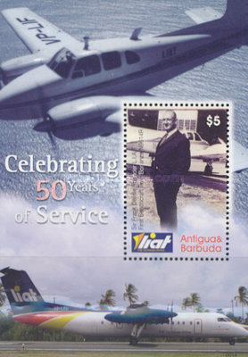[The 50th Anniversary of the Leeward Island Air Transportation - LIAT, type ]