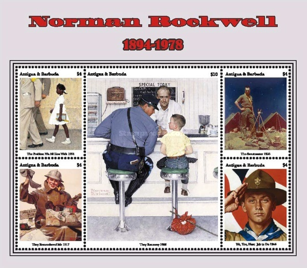 [Paintings - Norman Rockwell, 1894-1978, type ]
