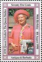 [The 90th Anniversary of the Birth of Queen Elizabeth the Queen Mother, 1900-2002, type AAK]