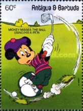 [Walt Disney Characters Playing Golf, type AFN]
