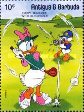 [Walt Disney Characters Playing Golf, type AFS]