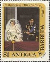 [The 21st Anniversary of the Birth of the Princess of Wales, type AG]