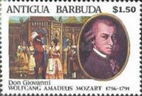 [The 200th Anniversary of the Death of Wolfgang Amadeus Mozart, 1756-1791, type AGX]