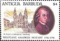 [The 200th Anniversary of the Death of Wolfgang Amadeus Mozart, 1756-1791, type AGY]