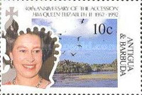 [The 40th Anniversary of the Acession of Queen Elizabeth II, type AHX]