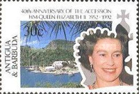 [The 40th Anniversary of the Acession of Queen Elizabeth II, type AHY]