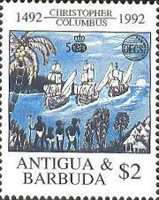 [OECS - The 500th Anniversary of the Discovery of America, type AKU]