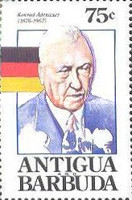 [The 25th Anniversary of the Death of Konrad Adenauer, 1876-1967, type AMG]