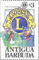 [The 75th Anniversary of the Lions International, type AMQ]