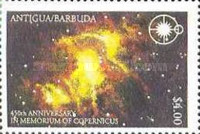 [The 450th Anniversary of the Death of Copernicus, 1473-1543, type ASD]