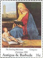[Christmas - Madonna Illustrations on Paintings of the 15th and 16th Century, type BAR]