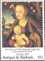 [Christmas - Madonna Illustrations on Paintings of the 15th and 16th Century, type BAU]
