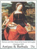 [Christmas - Madonna Illustrations on Paintings of the 15th and 16th Century, type BAV]