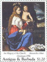 [Christmas - Madonna Illustrations on Paintings of the 15th and 16th Century, type BAW]