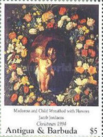 [Christmas - Madonna Illustrations on Paintings of the 15th and 16th Century, type BAX]