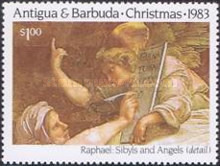 [Christmas - The 500th Anniversary of the Birth of Raphael, type CT]