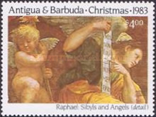 [Christmas - The 500th Anniversary of the Birth of Raphael, type CU]