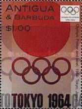 [Olympic Games - Athens, Greece; Olympic Poster and Label, 1964 - Tokyo, Japan, type DZN]