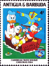 [Disney - Christmas - The 50th Anniversary of the Birth of Donald Duck, type FL]
