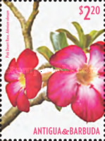 [Flowes of Antigua and Barbuda - Pink Desert Rose, type FRM]