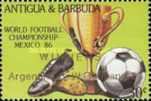 [Football World Cup - Mexico 1986 - Overprinted, type JG1]