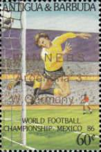 [Football World Cup - Mexico 1986 - Overprinted, type JH1]