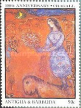 [The 100th Anniversary of the Birth of Marc Chagall, Artist, 1887-1985, type MW]