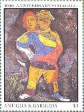 [The 100th Anniversary of the Birth of Marc Chagall, Artist, 1887-1985, type MY]