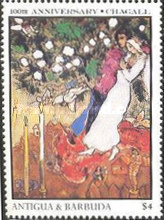 [The 100th Anniversary of the Birth of Marc Chagall, Artist, 1887-1985, type MZ]