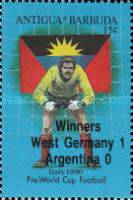 [Football World Cup - Italy - Issue of 1989 Overprinted, type VC1]