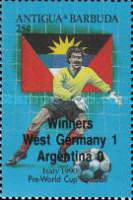 [Football World Cup - Italy - Issue of 1989 Overprinted, type VD1]