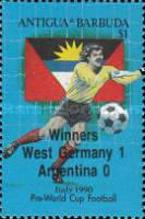 [Football World Cup - Italy - Issue of 1989 Overprinted, type VE1]