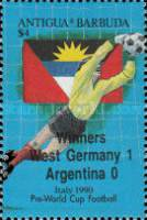 [Football World Cup - Italy - Issue of 1989 Overprinted, type VF1]