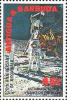 [The 20th Anniversary of the First Manned Landing on Moon, type WT]
