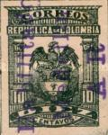 [Colombia Postage Stamp Overprinted