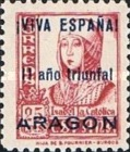 [The 1st Anniversary of the National Government - Spanish Postage Stamps Overprinted in Different Colors, type B5]