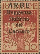 """[Carnaro Islands Postage Stamps Overprinted """"ARBE"""" - Large Overprint - See Also 1A-4A, type B]"""