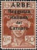 """[Carnaro Islands Postage Stamps Overprinted """"ARBE"""" - Large Overprint - See Also 1A-4A, type C]"""