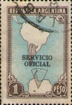 [Postage Stamps of 1935-1951 Overprinted in Black, Typ D23]