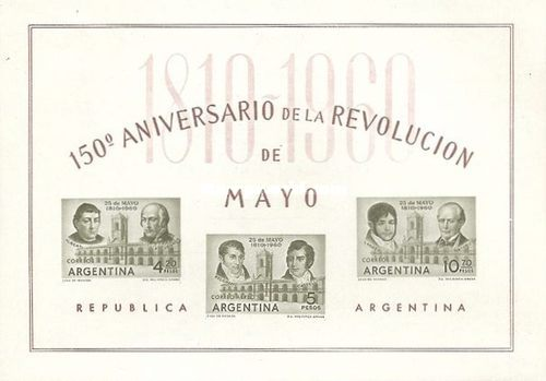 [The 150th Anniversary of the May Revolution, type ]