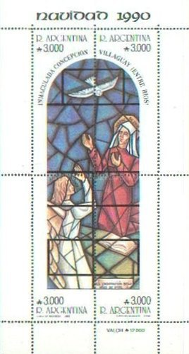 [Christmas, Stained Glass Windows by Carlos Quaglia from Church of Immaculate Conception, Villaguay, type ]