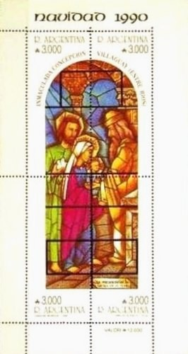 [Christmas, Stained Glass Windows by Carlos Quaglia from Church of Immaculate Conception, Villaguay, Typ ]